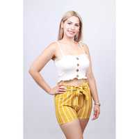MELODY RAYAS LAZO SHORT TELA /CHALIS EXCLUSIVO