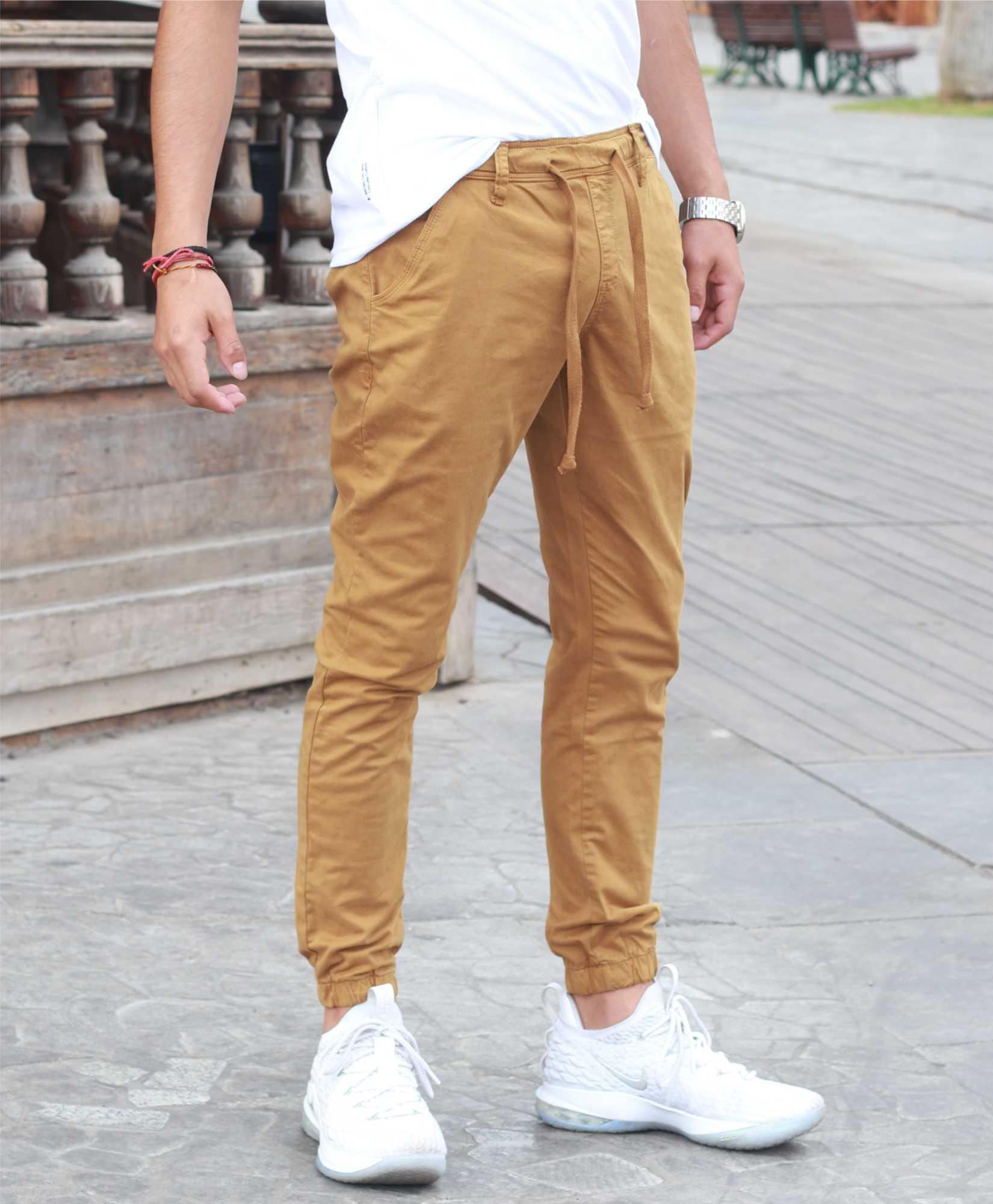 Pantalones Hombre Emporio Fox Cargo Yoger Drill Color Liso Pantalon